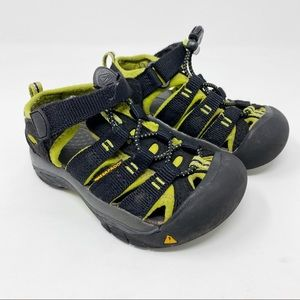 Keen Kids Sandals Waterproof Black Green 9